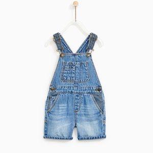 NWT shorts denim Overalls